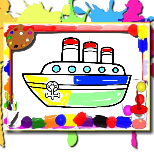 Boats Coloring Book