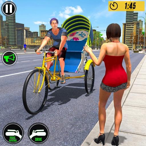 free online Bicycle Tuk Tuk Auto Rickshaw Free Driving Game