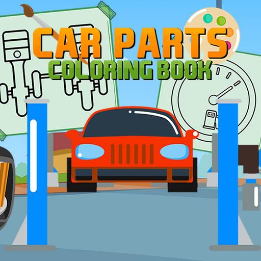 free online Car Parts Coloring Book