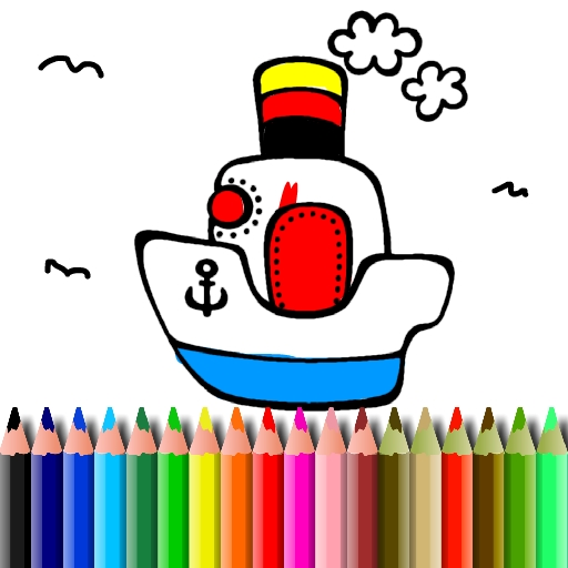 free online BTS Boat Coloring