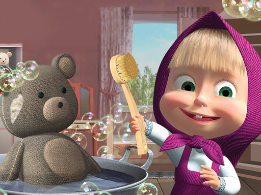 free online Doll And The Bear Cleaning Game