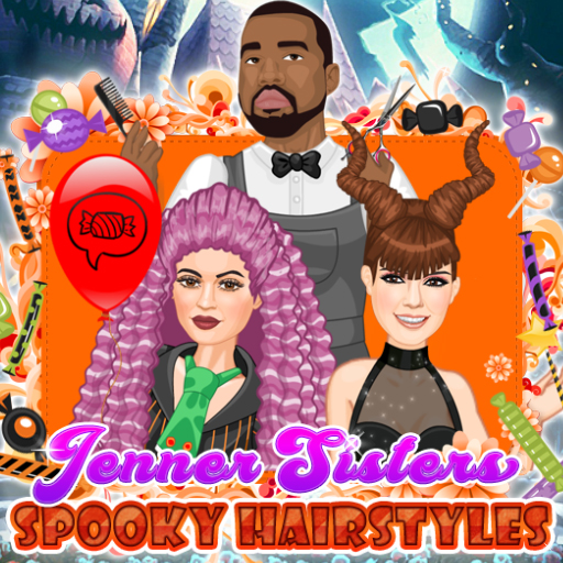 Jenner Sisters Spooky Hairstyles