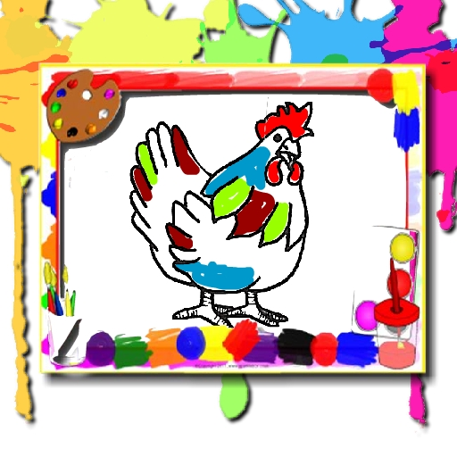 free online Chicken Coloring Book