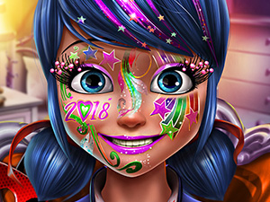 free online Dotted Girl New Year Makeup