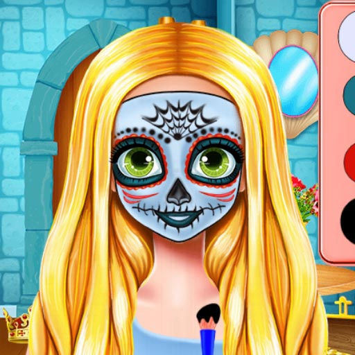 free online Sisters Halloween Face Paint